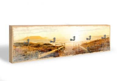 Key Holder - Sunset at the Beach + 5 Hooks