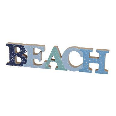 Schriftzug Beach