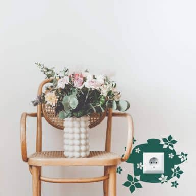 Wandtattoo Blumentopf