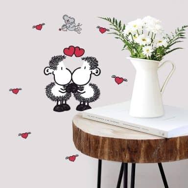 Muursticker Sheepworld - Mijn Valentijn