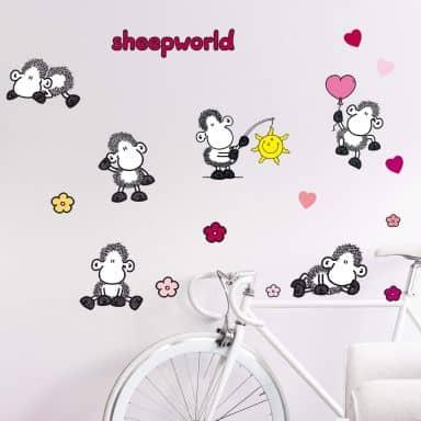 Wandtattoo sheepworld Set