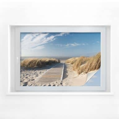 Window foil – to the beach