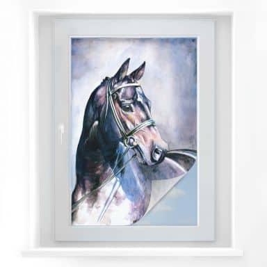 Sichtschutzfolie  Aquarell eines Pferdes