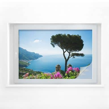 Window foil The Amalfi Coast
