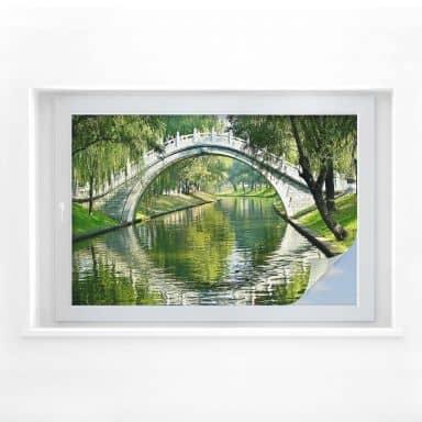 Sichtschutzfolie Brücke am Fluss