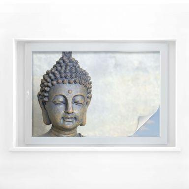 Pellicola adesiva per vetri - volto di Buddha