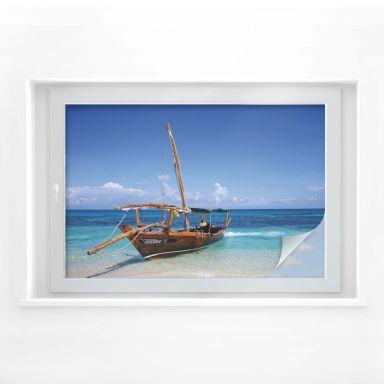 Sichtschutzfolie Caribbean Sailboat
