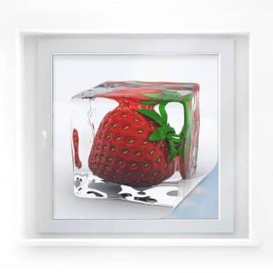 Raamfolie Strawberry Cube