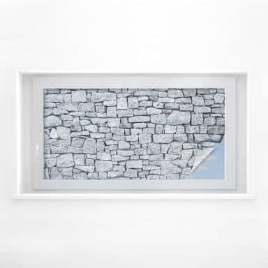 Sichtschutzfolie Granitmauer - Panorama