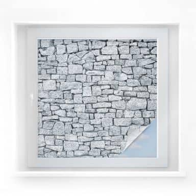 Sichtschutzfolie Granitmauer - quadratisch