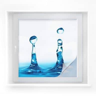 Sichtschutzfolie H2O - quadratisch