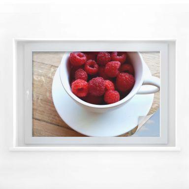 Window foil Raspberries