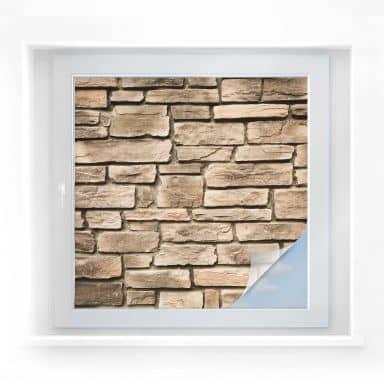 Window foil Italian Stonewall – square