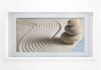 Sichtschutzfolie Stone in Sand 2 - Panorama