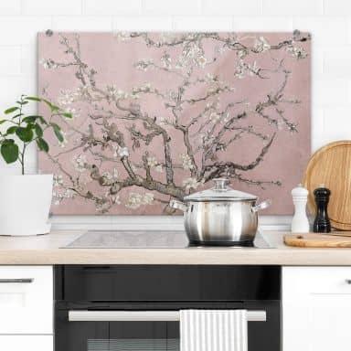 Spatscherm van Gogh - Amandelbloesem roze