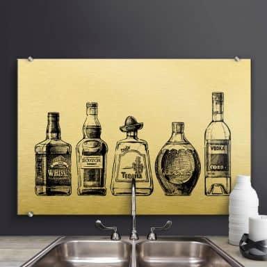 Spritzschutz - 5 Flaschen voll Spaß