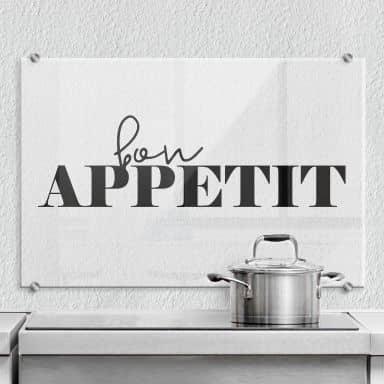 Pannello paraschizzi - Bon Appetit