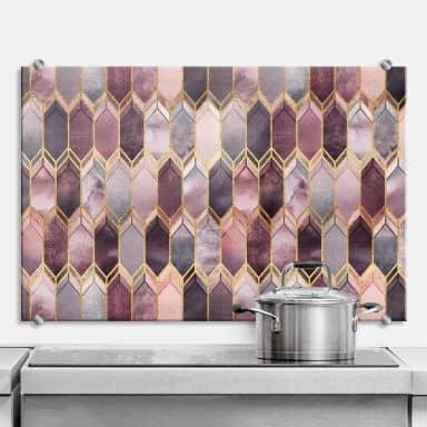 Spatscherm Fredriksson - Pink & Gold Beauty