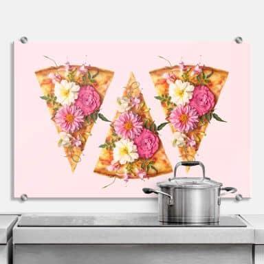 Spritzschutz Fuentes - Pizza und Blumen