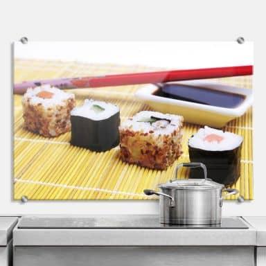 Küchenrückwand Sushi Maki