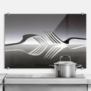 De Kogel - Silverware Reflection - Kitchen Splashback