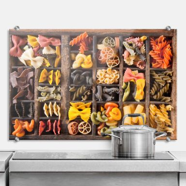 Collection of Noodles - Kitchen Splashback
