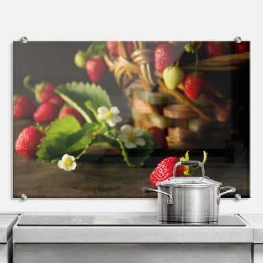Strawberry Basket - Kitchen Splashback