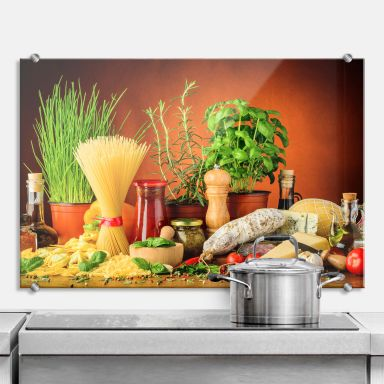 Italian Cooking - Kitchen Splashback