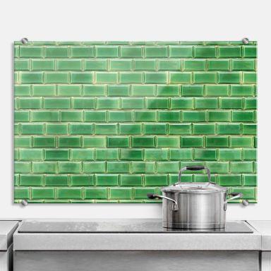 Green Tiles - Kitchen Splashback