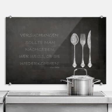 Spritzschutz aus ESG Sicherheitsglas für Küche & Bad | wall ...