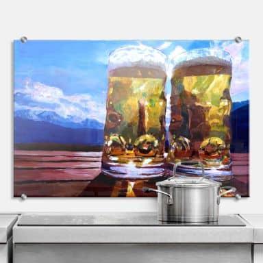 Spritzschutz Bleichner - Zwei Bier in den Berg