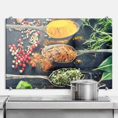 Variety of Spices 2 - Kitchen Splashback