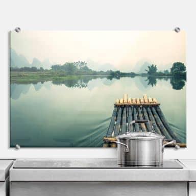 Spritzschutz Floßfahrt in China