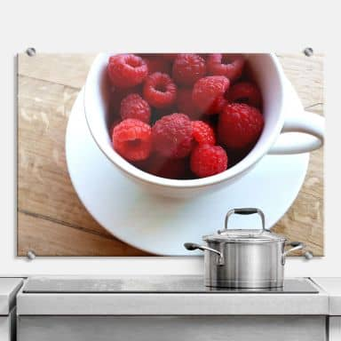Raspberry Cup - Kitchen Splashback