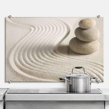 Stone in Sand 2 - Kitchen Splashback