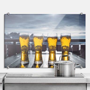 Spritzschutz Eiskaltes Bier