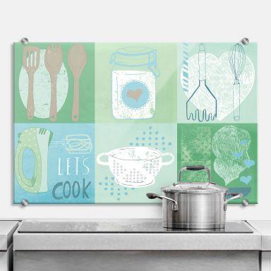 Pannello paraschizzi  Loske - In cucina