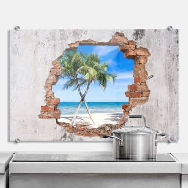 Splashback 3D optics – Ocean view