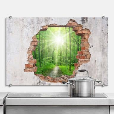 Splashback 3D optics – Sunny Forest