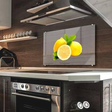 Spritzschutz Lemons - Transparent