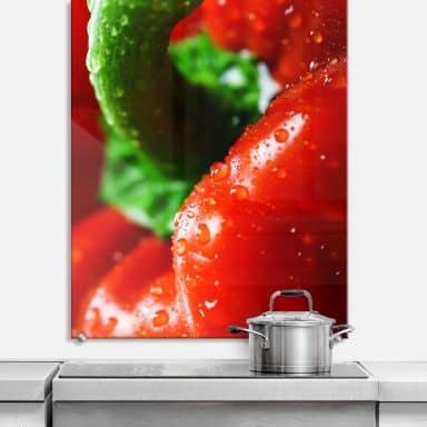 Spritzschutz Fresh Paprika - hochkant