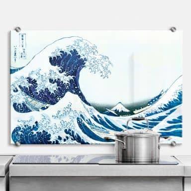 Spritzschutz Hokusai - Die große Welle