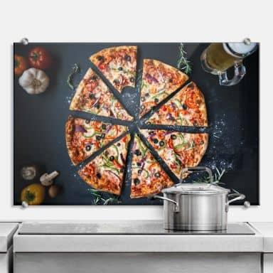 Spritzschutz Italienische Pizza