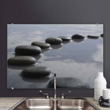 Splashback Alu-Dibond Path of Stones
