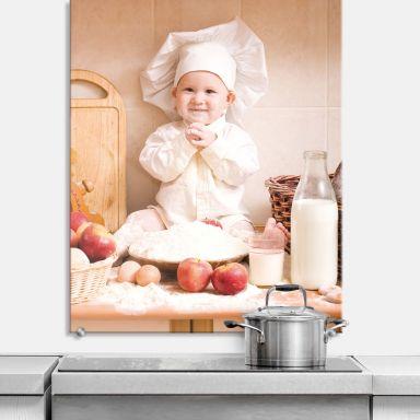 Spritzschutz Kleiner Bäcker - hochkant