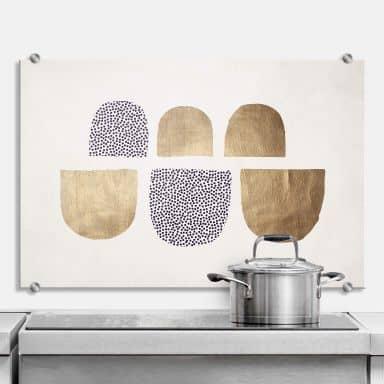 Spritzschutz Kubistika - Golden Geometrica