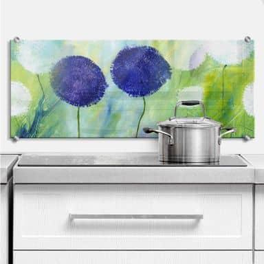 Splashback Niksic – Purple Flowers