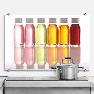 Küchenrückwand Oil Bottles