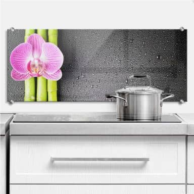 Orchid and Bamboo - Panorama - Kitchen Splashback