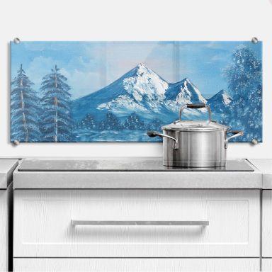 Küchenrückwand Toetzke - Alpsee in den Bergen -Panorama